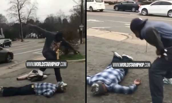 Tried The Wrong One: Man Gets Knocked Out & Head Stomped After Bringing A Knife To A Fight!