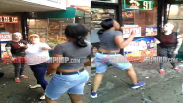 She Started It But Couldn't Finish It: Girl Gets Beat Up & Spit On In front Of Her Sister After She Pushed A Chick She Didn't Know!