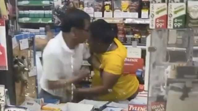 Woman Gets Jumped & Pistol Whipped After Going Behind The Counter To Fight The Convenience Store Clerk!
